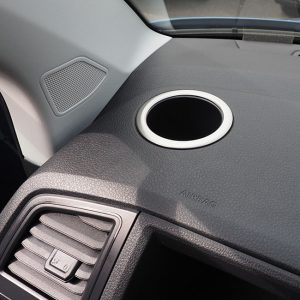 Cup Holder Surround for VW T6 Transporter Brushed Stainless Steel-0
