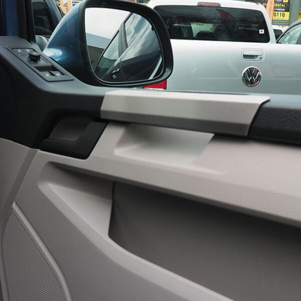 Grab Handle Covers for VW T6 Transporter Stainless Steel-0