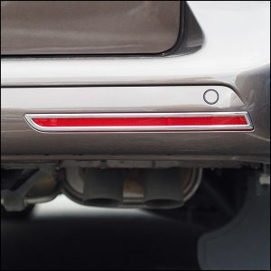 Barndoor Rear Bumper Reflector Trims For VW T6 Transporter-7690
