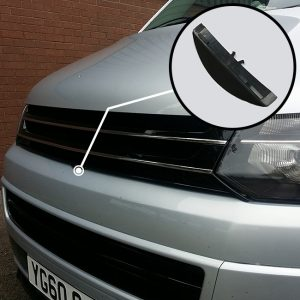 PIANO BLACK Front Badgeless Grille for VW Volkswagen T5.1 *CLEARANCE* [B GRADE] -0
