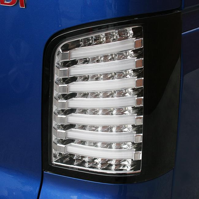 Van-X | VW T5 Tailgate LED Rear Lights Clear / Black