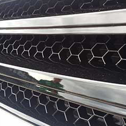 PIANO BLACK Front Badgeless Grille for VW Volkswagen T5.1 *CLEARANCE* [B GRADE] -20119
