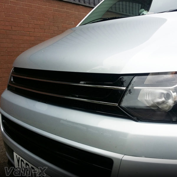 PIANO BLACK Front Badgeless Grille for VW Volkswagen T5.1 *CLEARANCE* [B GRADE] -20120
