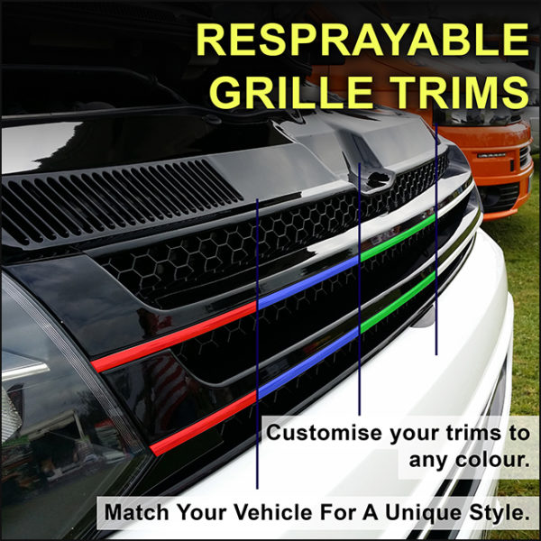 PIANO BLACK Front Badgeless Grille for VW Volkswagen T5.1 *CLEARANCE* [B GRADE] -7752