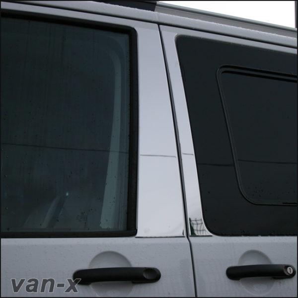 Door Pillar Trims for VW T6 Transporter Stainless Steel -8149
