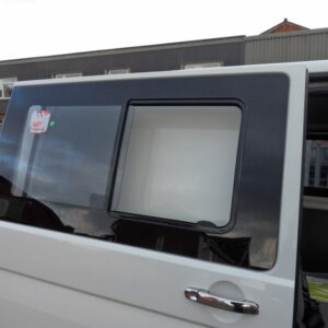 Side SLIDING Window Smoked Glass for VW T6 Transporter-8356