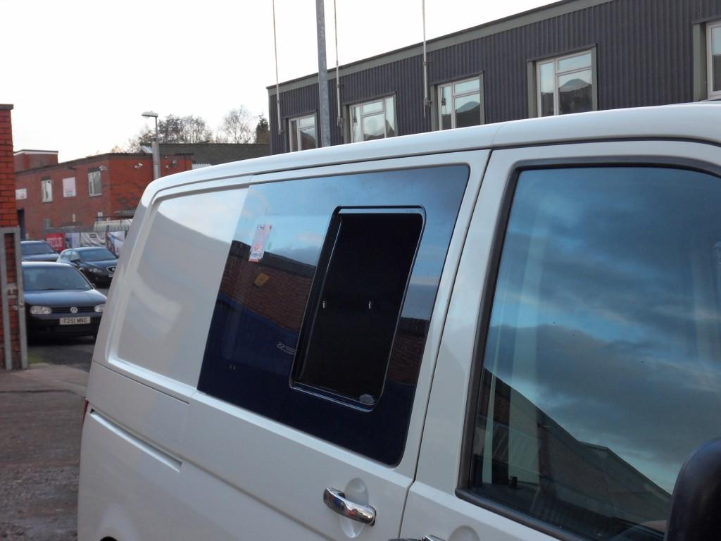Van X Side Sliding Window Smoked Glass For Vw T6 Transporter