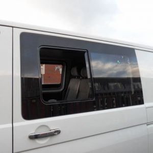Side SLIDING Window Smoked Glass for VW T6 Transporter-8352
