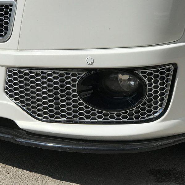 HONEYCOMB SPORTLINE FRONT SPOILER FOGLIGHT TRIMS FOR VW T5.1 (MATTE CHROME)-8978