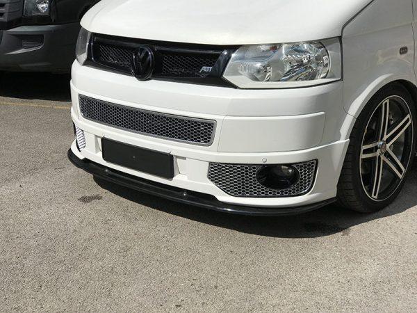 HONEYCOMB SPORTLINE FRONT SPOILER FOG LIGHT TRIM + BUMPER MESH FOR VW T5.1 (MATTE CHROME)-8941