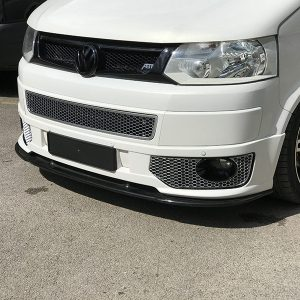HONEYCOMB SPORTLINE FRONT SPOILER FOGLIGHT TRIMS FOR VW T5.1 (MATTE CHROME)-8968