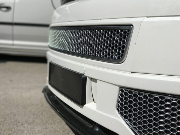 HONEYCOMB BUMPER MESH FOR VW T5.1 (MATTE CHROME)-8965