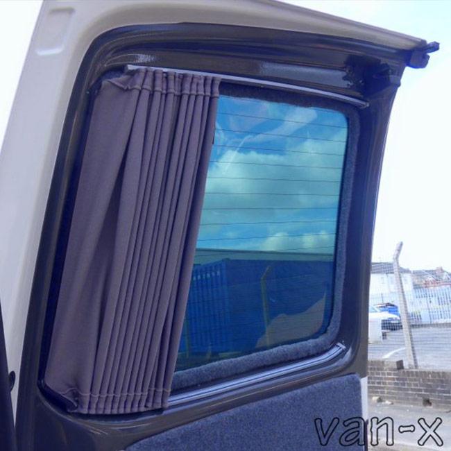 VW Caddy Premium 2 x Side Sliding Door 1 x Barndoor Window Curtains Van-X