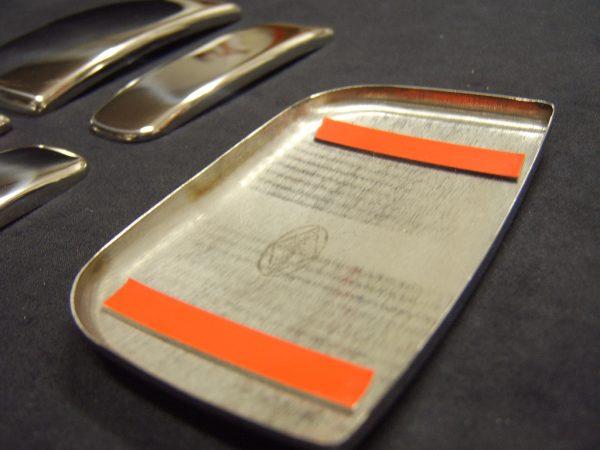 Door Handle Covers (3 Pcs) for Citroen Berlingo / Peugeot Partner Stainless Steel (The perfect present)-20491