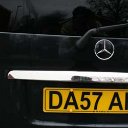 Tailgate Number Plate Trim for Mercedes Vito (Ideal gift)-20533