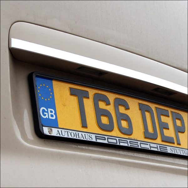 Rear Tailgate Number Plate Edge Trim for VW T5 Transporter (Gift idea)-20471