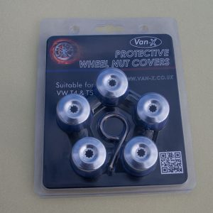 Silver Protective Wheel Nut / Bolt Covers 17mm (set of 20) (Ideal gift)-20487