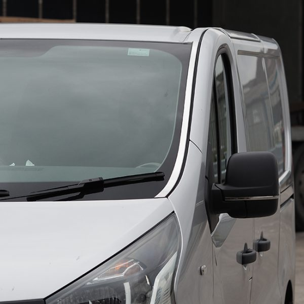 Windscreen Pillar Trim For Renault Trafic Stainless Steel-20708