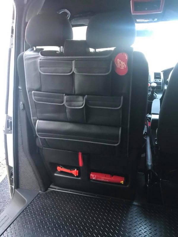 Double Back Seat Organiser for VW T5 / T5.1 / T6 Transporter-20864