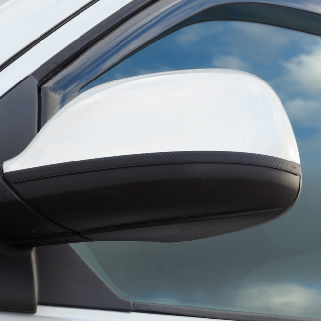 Stainless & Carbon Film Wing Mirror Trims For VW T5.1 / T6-0