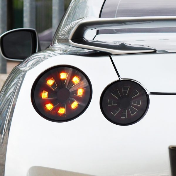 Nissan GTR R35 Smoked Dynamic Rear Led Lights-21008