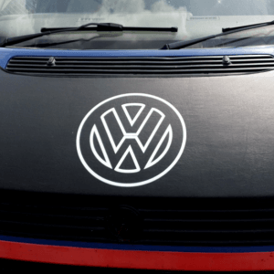 Bonnet Bra / Cover Black with white Logo for VW Transporter T4 S.NOSE-0