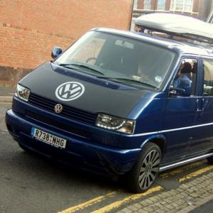 Bonnet Bra / Cover Black with Silver Logo for VW Transporter T4 S.NOSE-21037