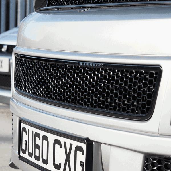 HONEYCOMB BUMPER MESH FOR VW T5.1 (GLOSS BLACK)-0