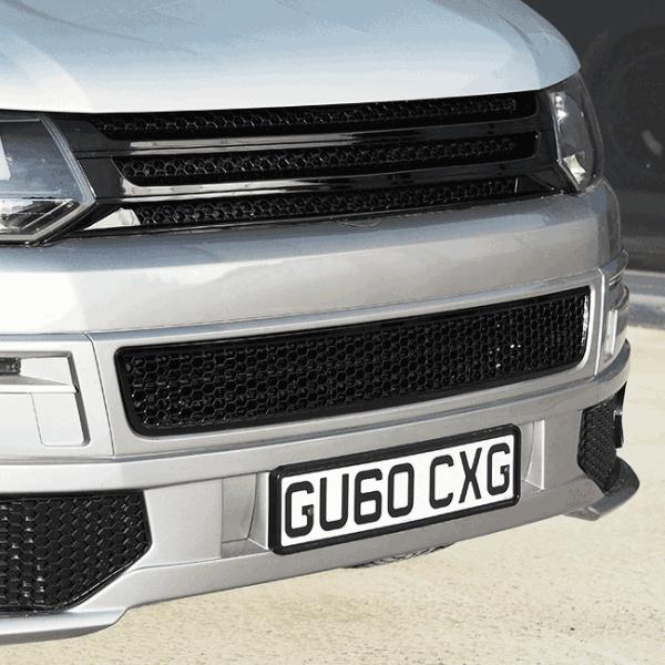 HONEYCOMB BUMPER MESH FOR VW T5.1 (GLOSS BLACK)-29690