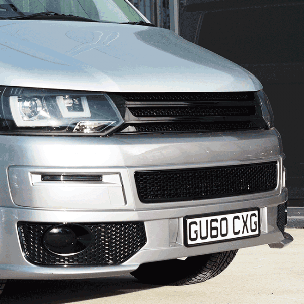 HONEYCOMB BUMPER MESH FOR VW T5.1 (GLOSS BLACK)-29693