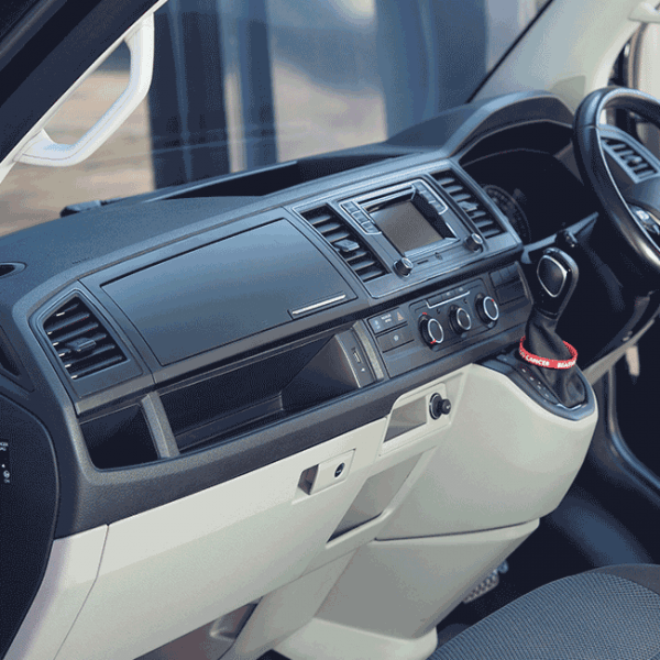 VW T6 Glove box Matte Black-0