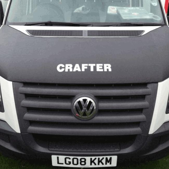 VW CRAFTER BONNET BRA CRAFTER LOGO-0