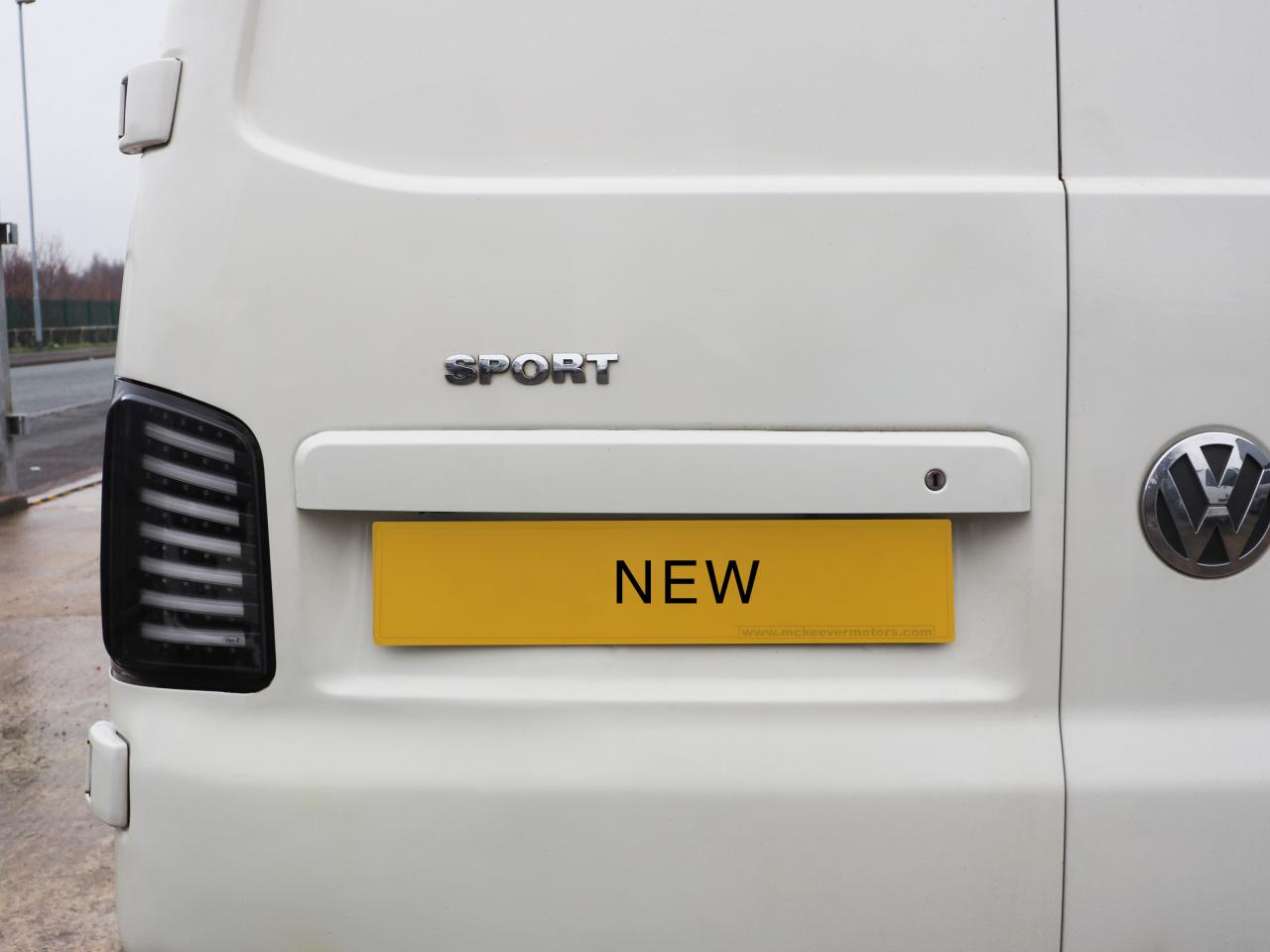 VW T5, T5 1, T6 Barn door Number Plate Unit Modified Version