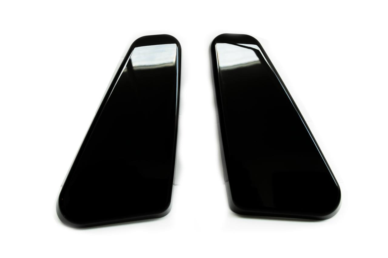VW T5, T5 1, T6 Twin Seat Hinge Caps + Arm rest Caps Piano Black