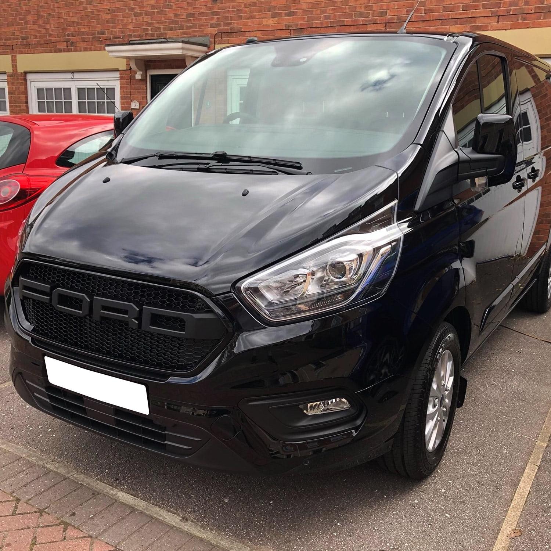 Ford Transit Custom Front Grille Matte Black New Shape - Van-X