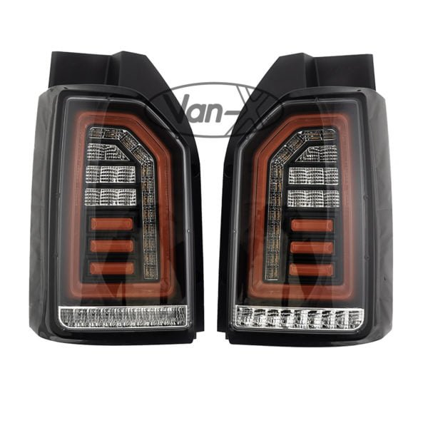 VAN-X VW T6 Clear Tailgate Rear Lights Sequential Indicator LED 1 - T6-303