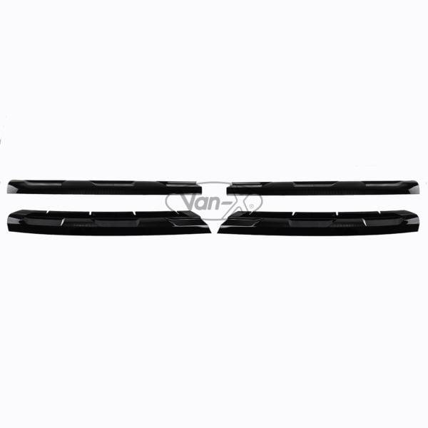 VAN-X VW Transporter T6 R-Line Front Grille Trims - Gloss Black 1 - T6-533-GB