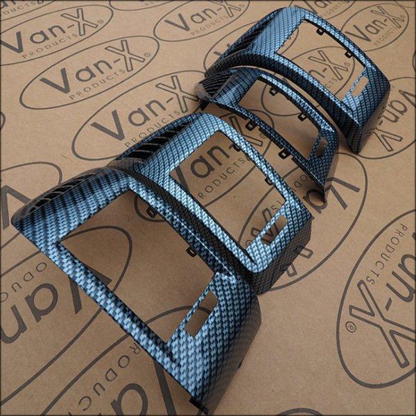 Dashboard Air Vent (SILVER CARBON) for Fiat Ducato, Peugeot Boxer & Citroen Relay-7094