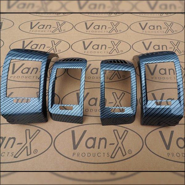 Dashboard Air Vent (SILVER CARBON) for Fiat Ducato, Peugeot Boxer & Citroen Relay-7092