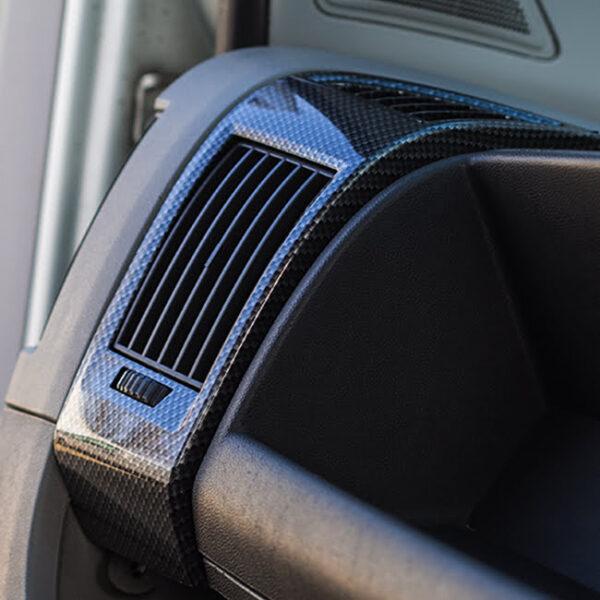 Dashboard Air Vent (Dark Carbon) For Fiat Ducato, Peugeot Boxer, Citroen Relay