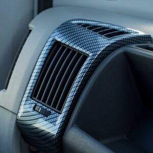 Dashboard Air Vent (Silver Carbon) For Fiat Ducato, Peugeot Boxer, Citroen Relay