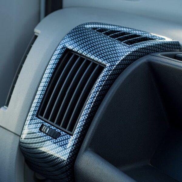 Dashboard Air Vent (Silver Carbon) For Fiat Ducato, Peugeot Boxer, Citroen Relay