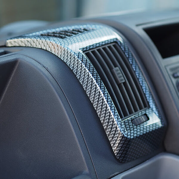 Dashboard Air Vent (SILVER CARBON) for Fiat Ducato, Peugeot Boxer & Citroen Relay-20030
