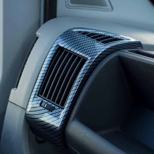 Dashboard Air Vent (SILVER CARBON) for Fiat Ducato, Peugeot Boxer & Citroen Relay-0