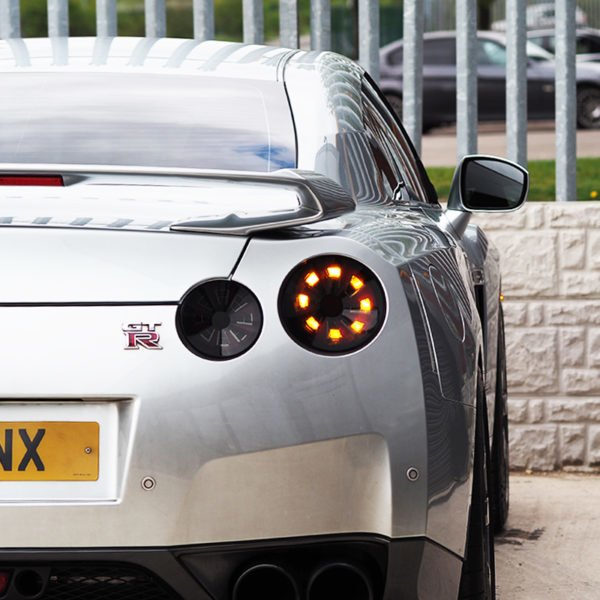 Nissan GTR R35 Smoked Dynamic Rear Led Lights-0